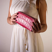 Сумки и аксессуары handmade. Livemaster - original item Clutch bag in crocodile leather with two zippers IMA0037P4. Handmade.