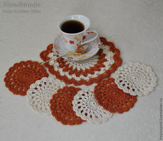 Кухня ручной работы. Ярмарка Мастеров - ручная работа. Купить Набор для чаепития Оранжевое Настроение. Handmade. Салфетки