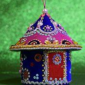 Елочные игрушки ручной работы. Ярмарка Мастеров - ручная работа Ёлочная игрушка Сказочный домик. Handmade.
