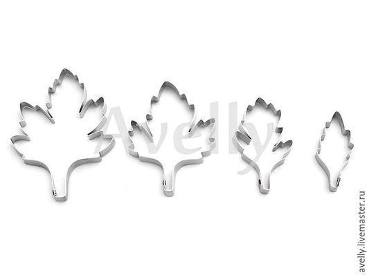 Материалы для флористики ручной работы. Ярмарка Мастеров - ручная работа. Купить Каттер листья хризантемы, 4 шт, Ф-111. Handmade.