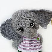 Мягкие игрушки ручной работы. Ярмарка Мастеров - ручная работа Слоненок. Handmade.