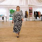 Одежда handmade. Livemaster - original item Elegant floor length dress made of viscose peas. Handmade.