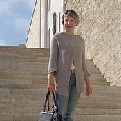 Одежда ручной работы. Ярмарка Мастеров - ручная работа Кардиган-разлетайка Греческий. Handmade.