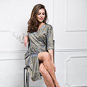 Одежда ручной работы. Ярмарка Мастеров - ручная работа Вечернее асимметричное платье с люрексом. Handmade.