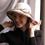 "Аксессуары ручной работы. Ярмарка Мастеров - ручная работа Шляпка ""Mademoiselle"" войлочная. Handmade."