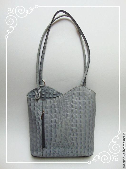 Винтажные сумки и кошельки. Ярмарка Мастеров - ручная работа. Купить Cумка-рюкзачок  из натуральной кожи, Италия. Handmade. Комбинированный