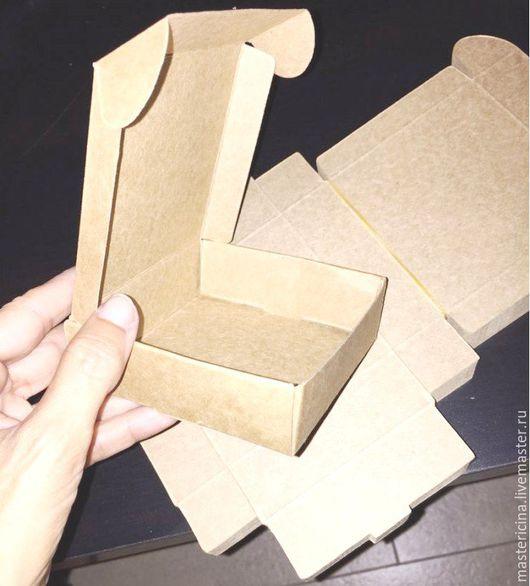 Упаковка ручной работы. Ярмарка Мастеров - ручная работа. Купить Коробочка для упаковки крафт квадратная. Handmade. Бежевый, коробка для мыла