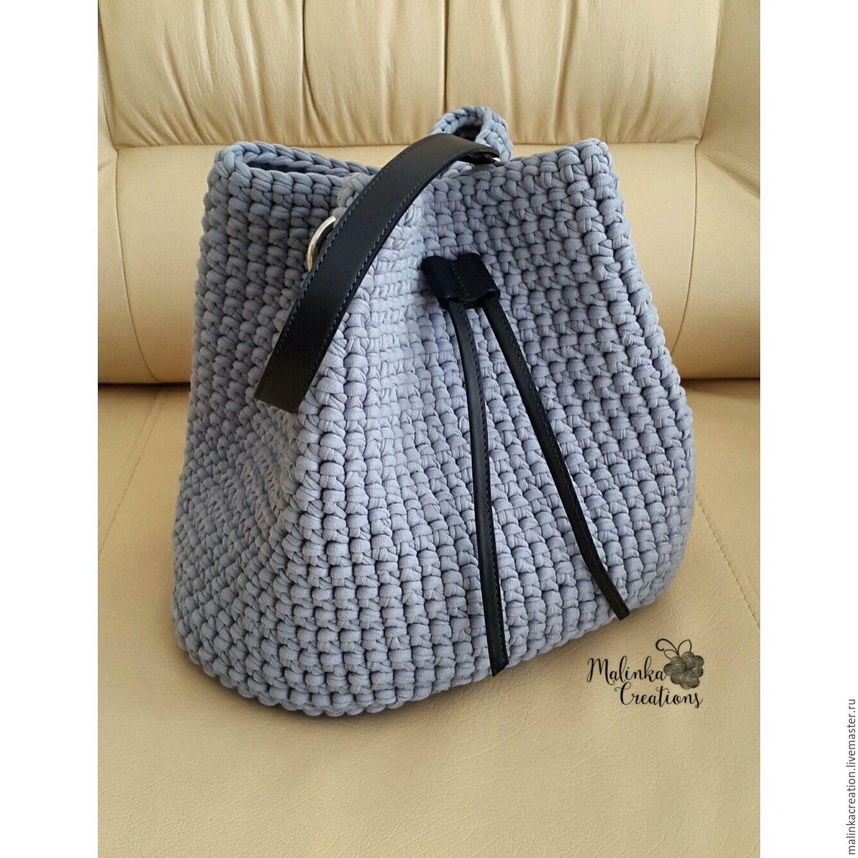 0b6679c29423 Стильная вязаная сумка-торба Light Grey Bag из трикотажной пряжи ...