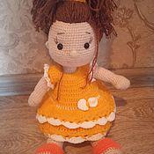 Мягкие игрушки ручной работы. Ярмарка Мастеров - ручная работа Мягкие игрушки: кукла вязаная крючком. Handmade.