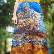 """Одежда ручной работы. Ярмарка Мастеров - ручная работа Платье """"Осенний блюз"""" 16004 из войлока. Handmade."""