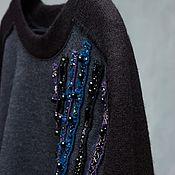 Одежда handmade. Livemaster - original item Jumper with Gulfstream embroidery, wool. Handmade.