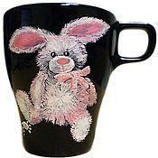 """Посуда ручной работы. Ярмарка Мастеров - ручная работа Чашки """"Милые звери"""". Handmade."""
