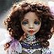 Коллекционные куклы ручной работы. Ярмарка Мастеров - ручная работа. Купить Дэйзи. Handmade. Сиреневый, кукла ручной работы