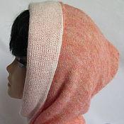 Аксессуары handmade. Livemaster - original item Hood scarf from Italian kid mohair. peach. Handmade.