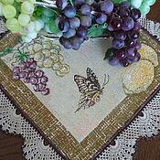Для дома и интерьера ручной работы. Ярмарка Мастеров - ручная работа Ланчмат, подтарельник, салфетка для сервировки Бабочка с лимоном. Handmade.