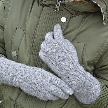 Аксессуары ручной работы. Ярмарка Мастеров - ручная работа Вязаные перчатки удлинённые Север. Handmade.