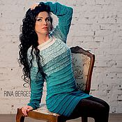 Одежда ручной работы. Ярмарка Мастеров - ручная работа «Мадлен» длинная туника - платье. Handmade.