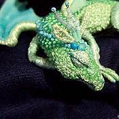 handmade. Livemaster - original item Brooch dragon