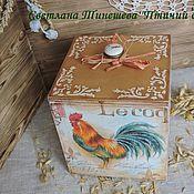 """Для дома и интерьера ручной работы. Ярмарка Мастеров - ручная работа Короб для кухни """"Птичий двор"""". Handmade."""