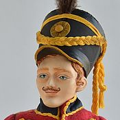 Куклы и пупсы ручной работы. Ярмарка Мастеров - ручная работа Будуарная кукла Гусар Лейб Гвардии. Handmade.