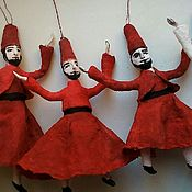 Куклы и игрушки ручной работы. Ярмарка Мастеров - ручная работа Дервиши, ватные ёлочные игрушки. Handmade.
