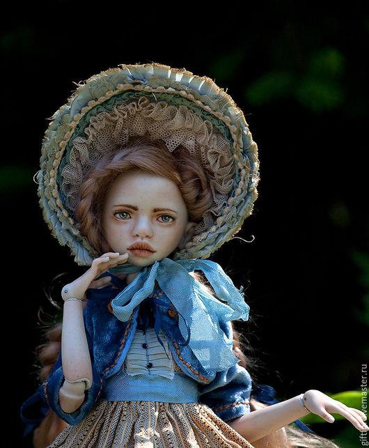 Коллекционные куклы ручной работы. Ярмарка Мастеров - ручная работа. Купить Катерина. Фарфоровая шарнирная кукла. Handmade. Голубой, bjd