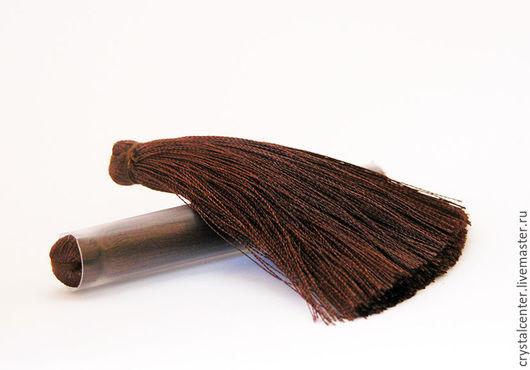 Для украшений ручной работы. Ярмарка Мастеров - ручная работа. Купить Кисточки для серег - темный шоколад. Handmade. Фурнитура для украшений
