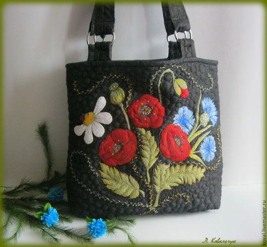 Женские сумки ручной работы. Ярмарка Мастеров - ручная работа. Купить Вышитая сумка Ароматы лета. Handmade. Разноцветный