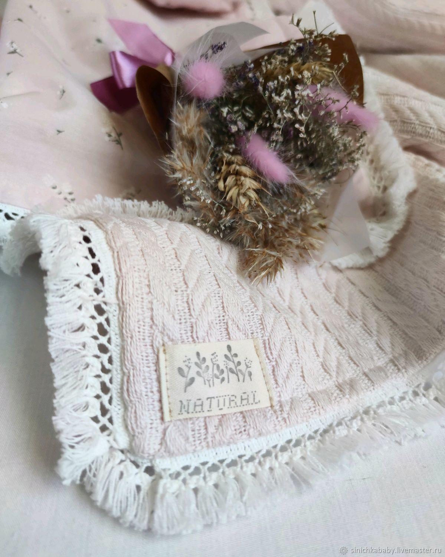 Одеяло детское, плед (вязаное полотно, сатин премиум) для девочки, Одеяло для детей, Краснодар,  Фото №1