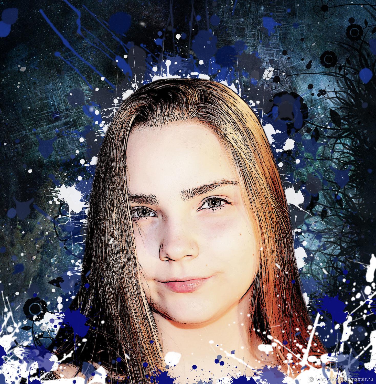 Стилизованный портрет, Фото, Москва, Фото №1