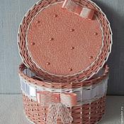 Для дома и интерьера ручной работы. Ярмарка Мастеров - ручная работа шкатулка круглая. Handmade.