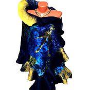 """Аксессуары ручной работы. Ярмарка Мастеров - ручная работа Палантин валяный """"Млечный путь"""". Handmade."""