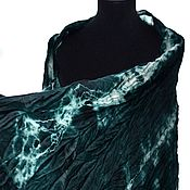 Аксессуары handmade. Livemaster - original item dark green warm Scarf wool and silk handmade, gift to a woman. Handmade.