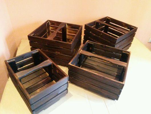 Корзины, коробы ручной работы. Ярмарка Мастеров - ручная работа. Купить ящик №2 для хранения. Интерьерные деревянные ящики.. Handmade.