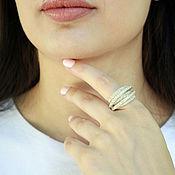 Украшения handmade. Livemaster - original item Ring of silver 925 with zircons. Handmade.