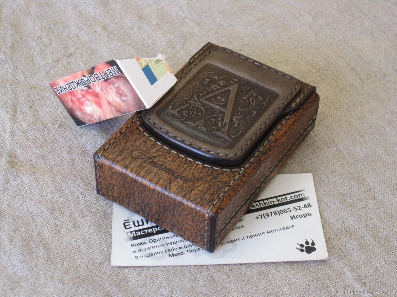Monogrammed cigarette case. sigaretta. Personalized gift, Cigarette cases, Yalta,  Фото №1