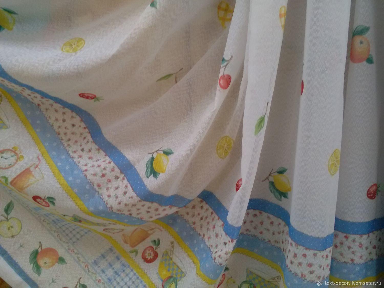 Тюль для КУХНИ с рисунком