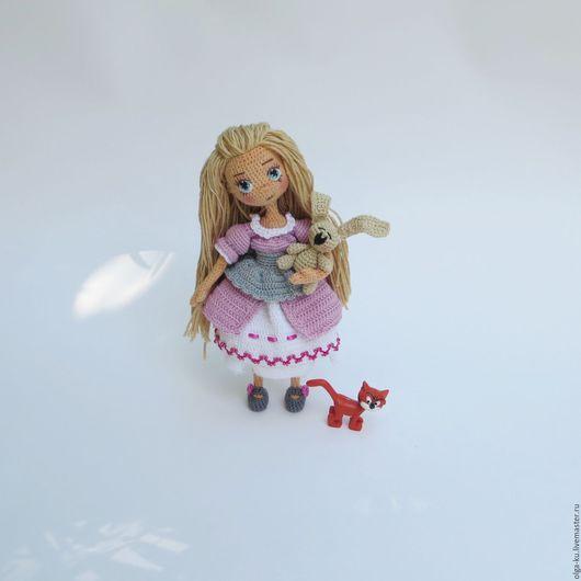 Человечки ручной работы. Ярмарка Мастеров - ручная работа. Купить Кукла Анна. Handmade. Розовый, кукла в подарок, кукла крючком