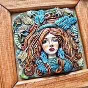 Сувениры и подарки handmade. Livemaster - original item Gift boxes: Home decorations: Bas Relief Sagittarius. Handmade.