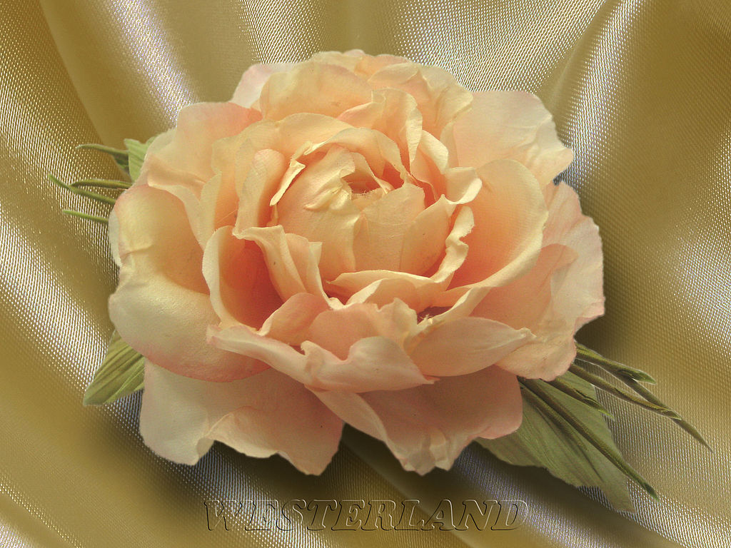 Silk Flowers Brooch Pin Rose Westerlend Natural Silk Shop Online