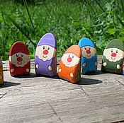 Куклы и игрушки ручной работы. Ярмарка Мастеров - ручная работа 7 разноцветных гномов.. Handmade.