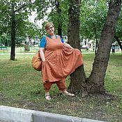 Одежда ручной работы. Ярмарка Мастеров - ручная работа Бохо-костюм из рыжего льна. Handmade.