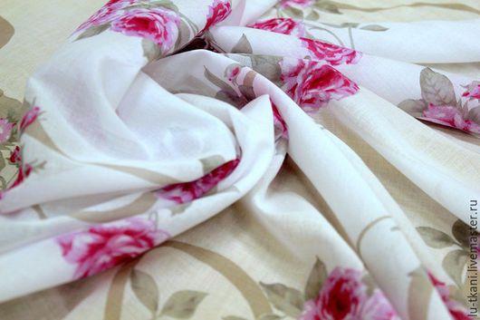 Шитье ручной работы. Ярмарка Мастеров - ручная работа. Купить Батист  Италия. Handmade. Розовый, цветы