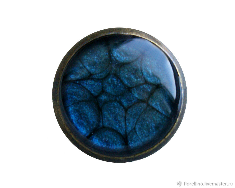 Handmade button blue color, Buttons, Moscow,  Фото №1