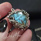 Украшения handmade. Livemaster - original item Pendant with a labradorite metal melchior stone