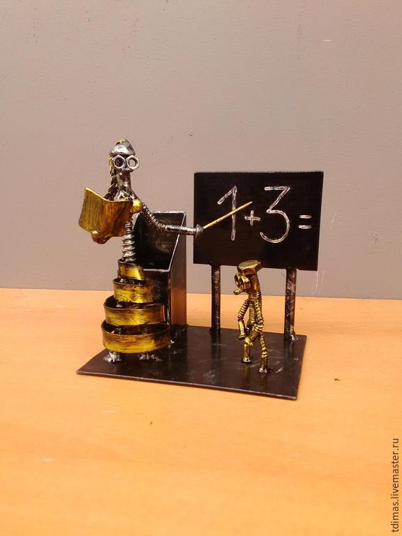 Статуэтки ручной работы. Ярмарка Мастеров - ручная работа. Купить Карандашница. Handmade. Металл, подарок учителю, гайки