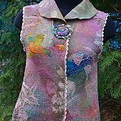 """Одежда ручной работы. Ярмарка Мастеров - ручная работа Нуновойлочный жилет """"Райский сад """". Handmade."""