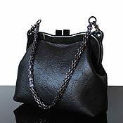Сумки и аксессуары handmade. Livemaster - original item Large black clutch bag, leather. Handmade.