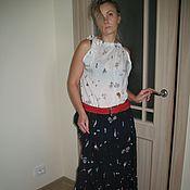 Одежда ручной работы. Ярмарка Мастеров - ручная работа юбка из штапеля (ананасы). Handmade.
