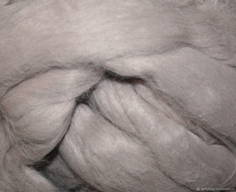 Матовая вискоза  Бежевый 25 гр. Волокна для валяния Германия, Волокна, Смоленск,  Фото №1